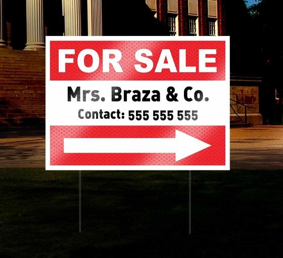 HIP Reflective Real Estate Yard Sign