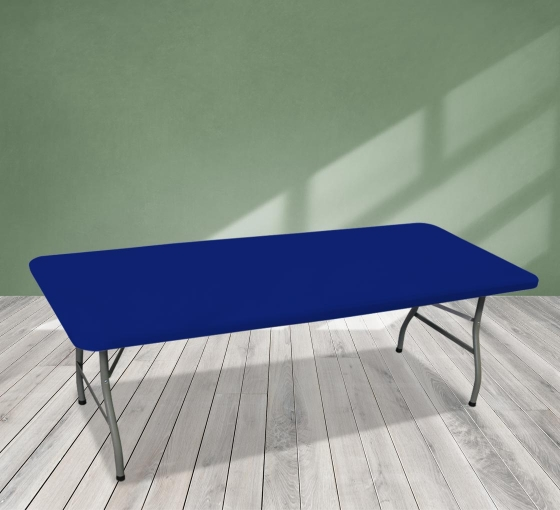 8' Rectangle Table Toppers - Blue
