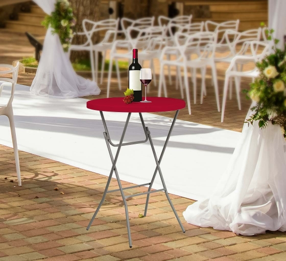 """31.5"""" Round Table Toppers - Red"""