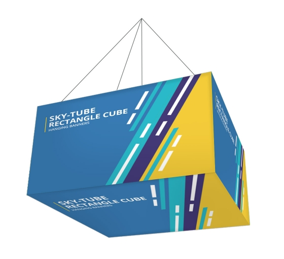 Sky Tube Rectangle Cube Hanging Banners