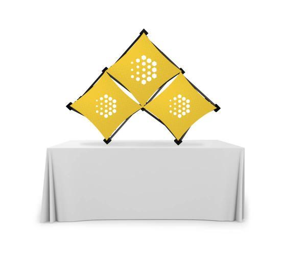 Triangular Small Micro GeoMetrix Table Top Display
